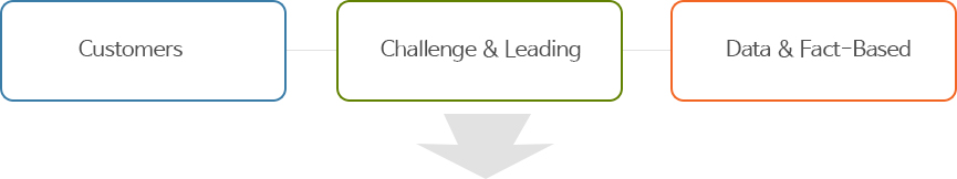 Customers , Challenge & Leading , Data & Fact-Based