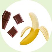 바나나 + 초콜릿